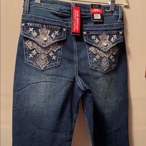 NWT Earl Jeans women slim boot cut size 8 cross